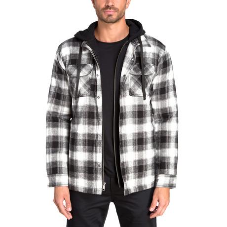 Long Sleeve Flannel Shirt Jacket // Black Beauty (S)