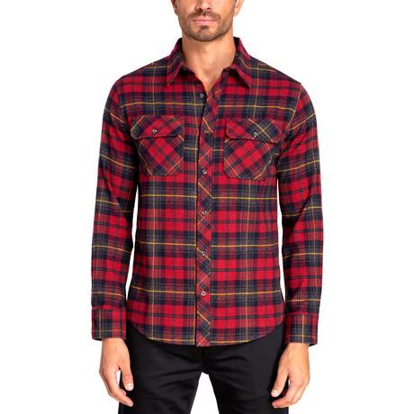Long Sleeve Flannel Shirt // Biking Red (S)