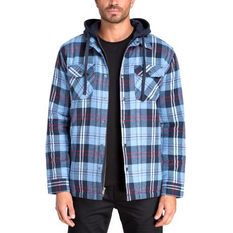 Long Sleeve Flannel Shirt Jacket // Dutch Blue (S)