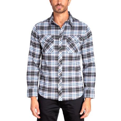 Long Sleeve Flannel Shirt // Dutch Blue (S)