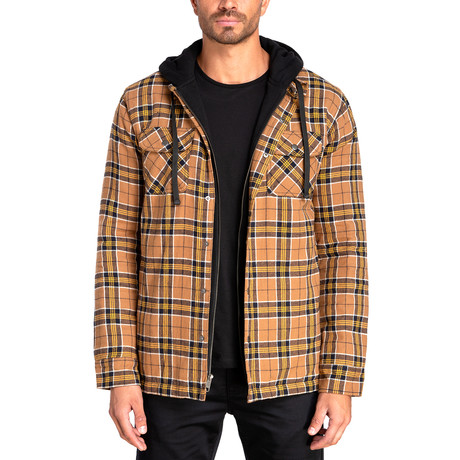 Long Sleeve Flannel Shirt Jacket // Workman Brown (S)