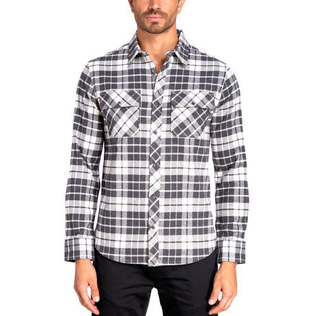 Long Sleeve Flannel Shirt // Gray Heather (S)