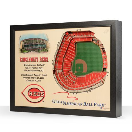 Cincinnati Reds // Great American Ball Park // 25 Layer Wall Art