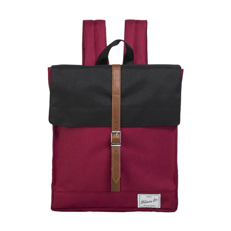 Jonathon Backpack // Black + Claret Red