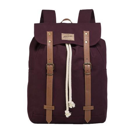 Brock Backpack // Claret Red