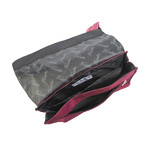 Jonathon Backpack // Black + Claret Red