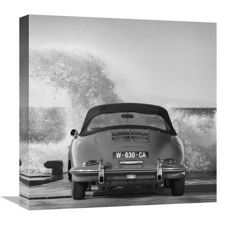 """Ocean Waves Breaking On Vintage Beauties (BW Detail 1) (18""""W x 18""""H x 1.5""""D)"""