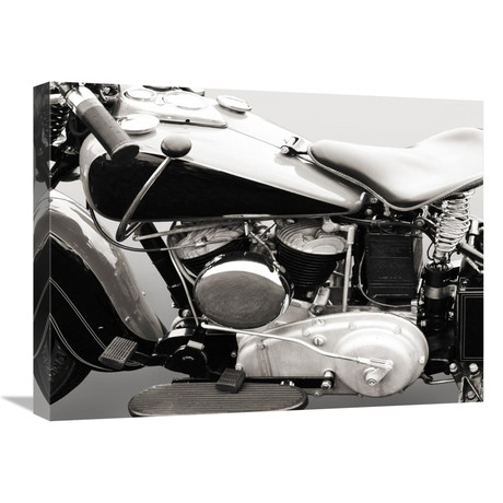 "Vintage American V-Twin Engine (Detail) (24""W x 18""H x 1.5""D)"