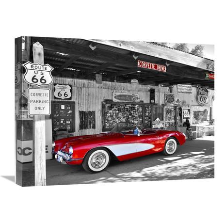 "Red Corvette (24""W x 18""H x 1.5""D)"