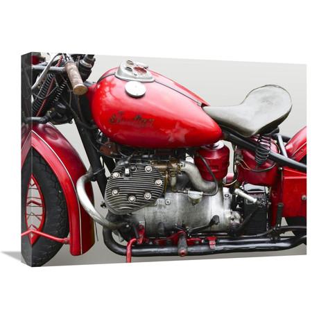 "Vintage American Motorbike (Detail) (24""W x 18""H x 1.5""D)"