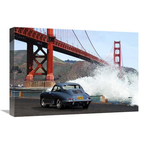 "Under The Golden Gate Bridge, San Francisco (24""W x 16""H x 1.5""D)"