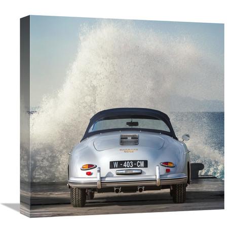 """Ocean Waves Breaking On Vintage Beauties (Detail 2) (18""""W x 18""""H x 1.5""""D)"""