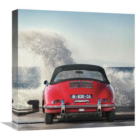 """Ocean Waves Breaking On Vintage Beauties (Detail 1) (18""""W x 18""""H x 1.5""""D)"""