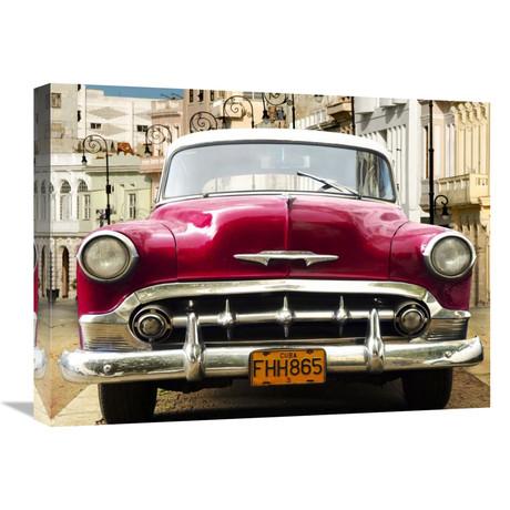 """Classic American Car In Habana, Cuba (24""""W x 18""""H x 1.5""""D)"""
