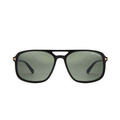 Men's Terry Sunglasses // Black + Gray Green