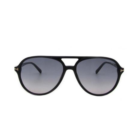 Men's Jared Sunglasses // Shiny Black + Gray Gradient