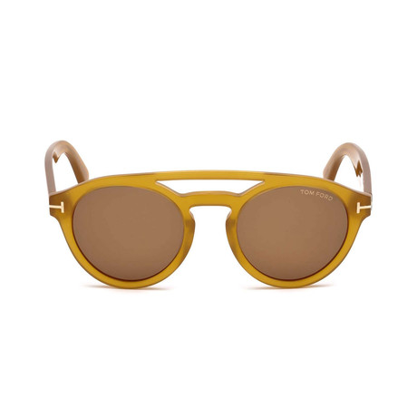 Men's Clint Sunglasses // Yellow + Brown