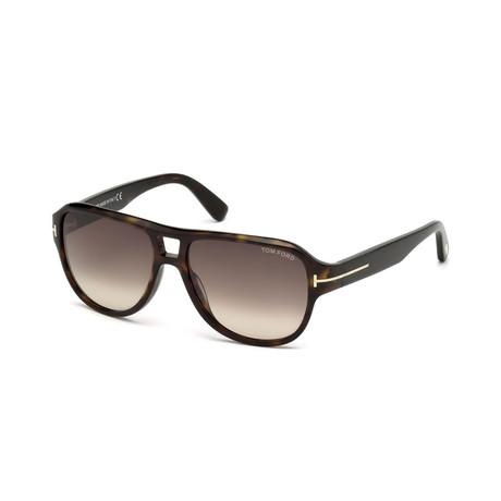 Men's Dylan Sunglasses // Dark Havana + Orange Gradient