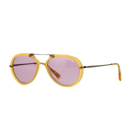 Men's Aaron Sunglasses // Shiny Yellow + Violet