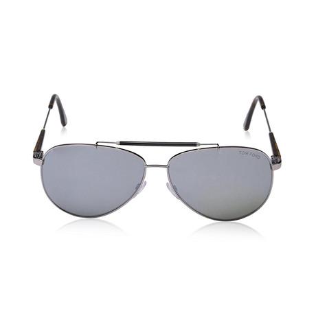Men's Rick Sunglasses // Silver + Green