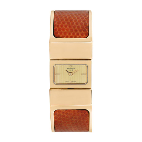 Hermes Ladies Loquet Bangle Quartz // Pre-Owned