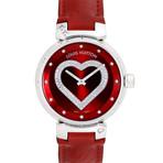 Louis Vuitton Ladies Tambour Diamond Heart Quartz // Pre-Owned