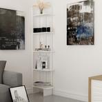 Alice Corner Bookcase (White)