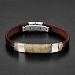 Accent Twisted Rope Leather Bracelet // Brown