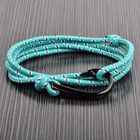 Adjustable Wrap Bracelet // Teal