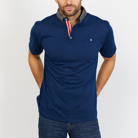 Ezekiel Polo Button Up Shirt // Sax Blue (Small)