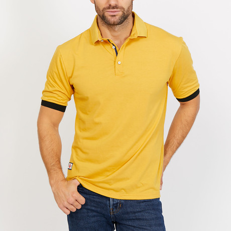 Chase Polo Button Up Shirt // Mustard (Small)