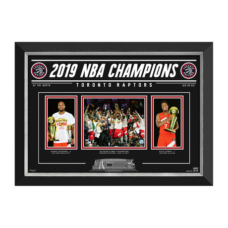 Toronto Raptors 2019 NBA Champions // Limited Edition Photo Display