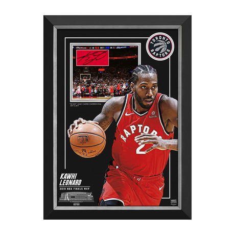 Kawhi Leonard // Limited Edition NBA Finals MVP Display // Facsimile Signed