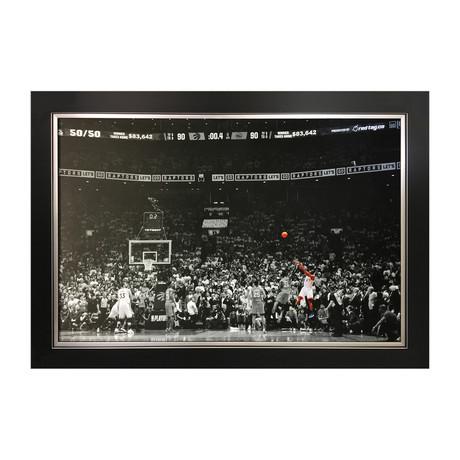 """The Launch"" Kawhi Leonard // Framed Canvas // Toronto Raptors Game Winning Shot"