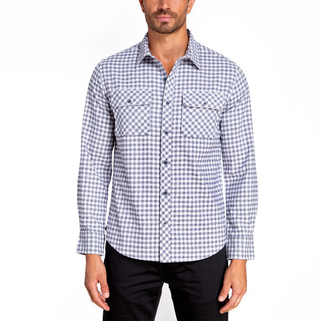 Long Sleeve Flannel Shirt // Estate Blue (S)