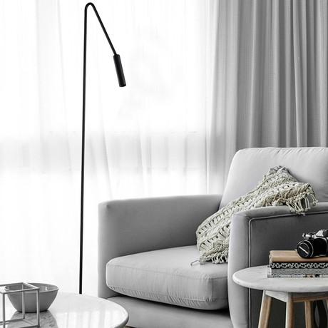 Spotlight Floor Lamp // Matte Black