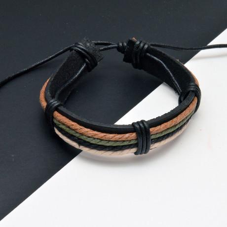 Phil Bracelet // Black + Brown + Green