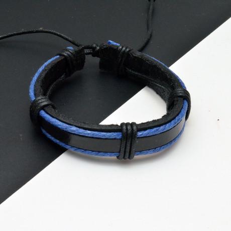 Luke Bracelet // Black + Blue