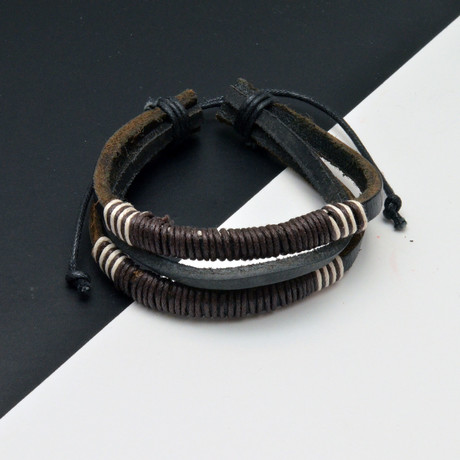 Nick Bracelet // Black + Brown