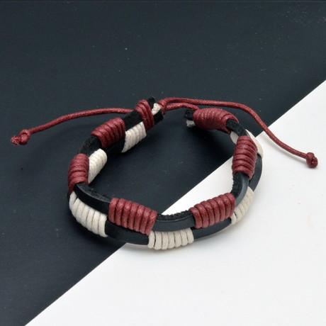 Ethan Bracelet // Red + Black + Brown