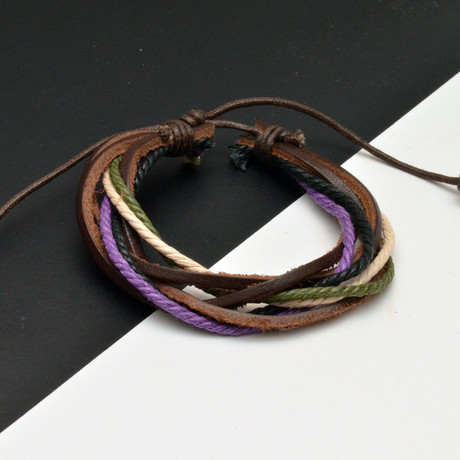 William Bracelet // Brown + Green + Purple