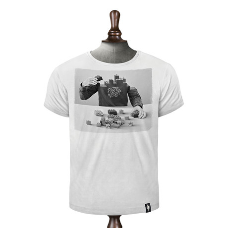 Pick Up The Pieces T-shirt // Vintage White (XS)