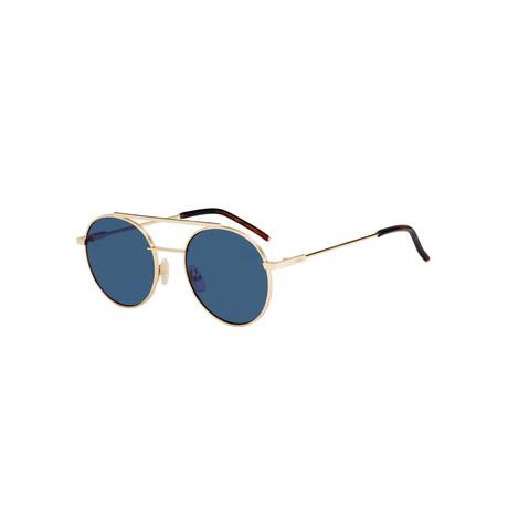 Fendi // Unisex Sunglasses // Rose Gold + Blue