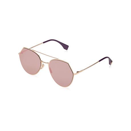 Fendi // Women's Sunglasses // Gold + Silver