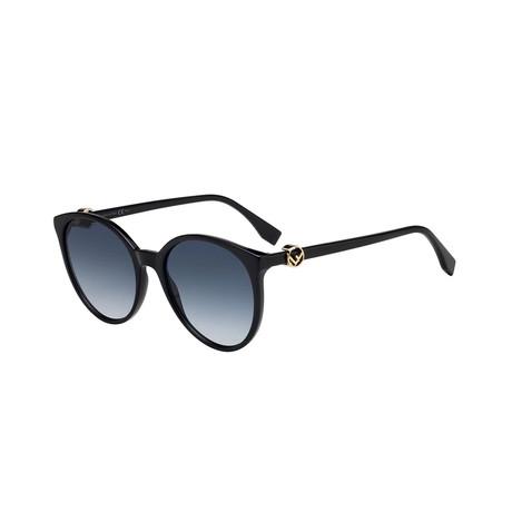 Fendi // Women's Sunglasses // Black + Gray Blue Gradient