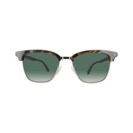Fendi Men's Sunglasses // Dark Havana + Green