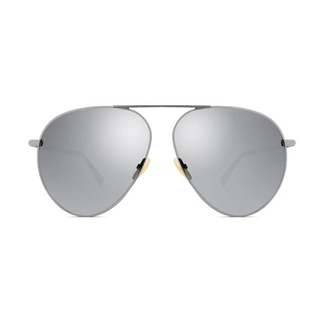 Fendi Men's Sunglasses // Ruthenium + Black II