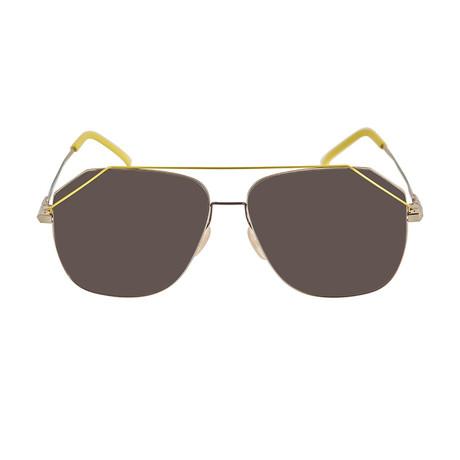 Fendi Men's Sunglasses // Gold + Gray Blue