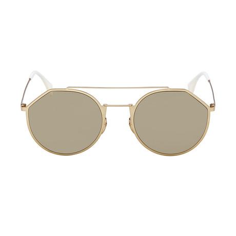 Fendi Men's Sunglasses // Gold + Brown Gold