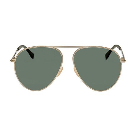 Fendi Men's Sunglasses // Gold + Green